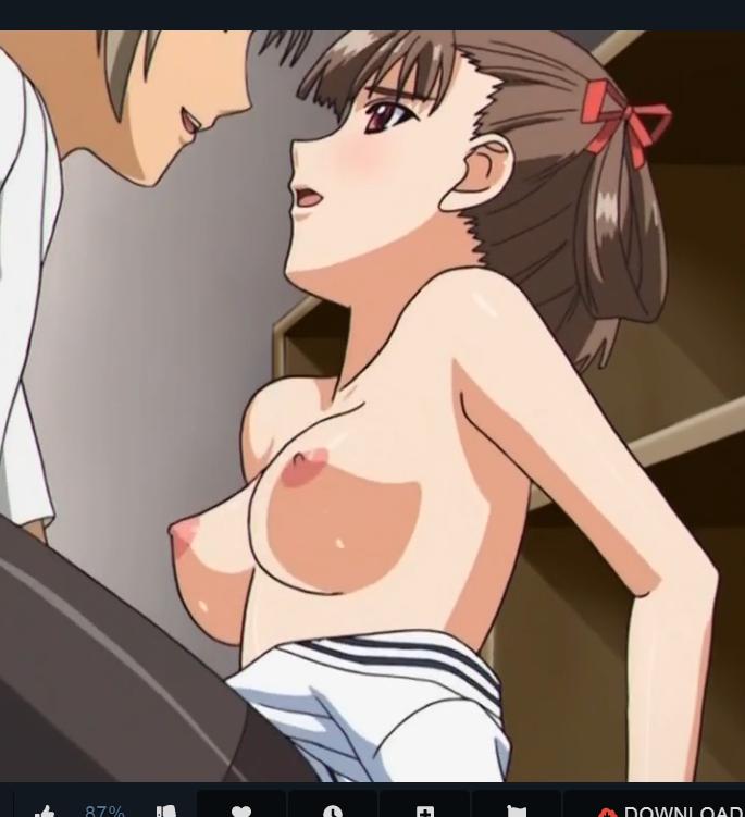 クッソヌケルアニメ!!更衣室で体の小さいJKを犯す!!ちっぱい激揺れ制服着衣でドエロく中出し♡♡